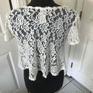 American Rag Tops - American Rag Lace Boho Style crop top